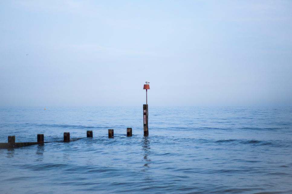The peaceful sea